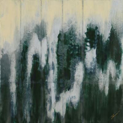 Sheets of Rain by Shima Shanti, Encaustic Artist